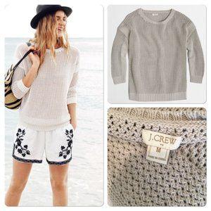 J.crew Knit Sweater 100% Cotton Beige Size M